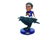 The National Bobblehead Hall of Fame and Museum unveiled a limited edition bobblehead featuring Baltimore Ravens quarterback Lamar Jackson.