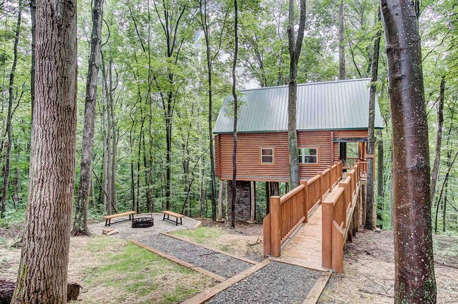 Travelers can take their adventures to new heights in Ohio's Hocking Hills by staying in one of its treehouses. Some are wheelchair accessible.