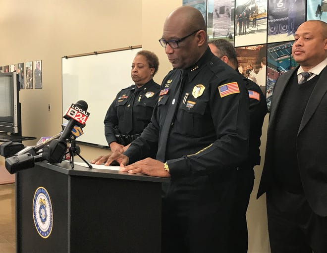 The man responsible for a shooting in Walmart was arrested and charged Thursday, Deputy Chief Sam Hines said at the Memphis Police Department Ridgeway Station.