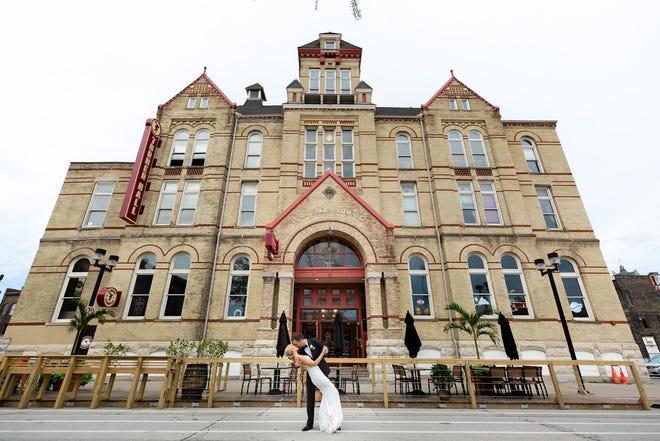 "Milwaukee's Turner Hall Ballroom has ""dream destination wedding"" written all over it."