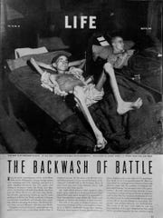 Joe Demler, Port Washington, is shown shortly after being liberated from a  prisoner of war camp at Stalag XIIA in Germany. He weighed about 70 pounds after his three-month ordeal in a German prison camp and was featured in Life Magazine in 1945. He became a poster child for the suffering and humiliation of prisoners of war during World War II. He later spoke to groups and promoted the Honor Flight program to take veterans to Washington, D.C.