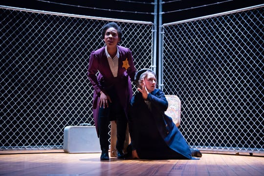 """Sania Hyatt and Vivienne Claire Luthin in a scene from """"And Then They Came For Me: Remembering the World of Anne Frank,"""" which runs Feb. 9 and 15 at Alabama Shakespeare Festival."""