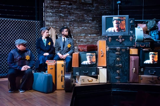 """John Cencio Burgos, Vivienne Claire Luthin and George Lamar in a scene from """"And Then They Came For Me: Remembering the World of Anne Frank,"""" which runs Feb. 9 and 15 at Alabama Shakespeare Festival."""