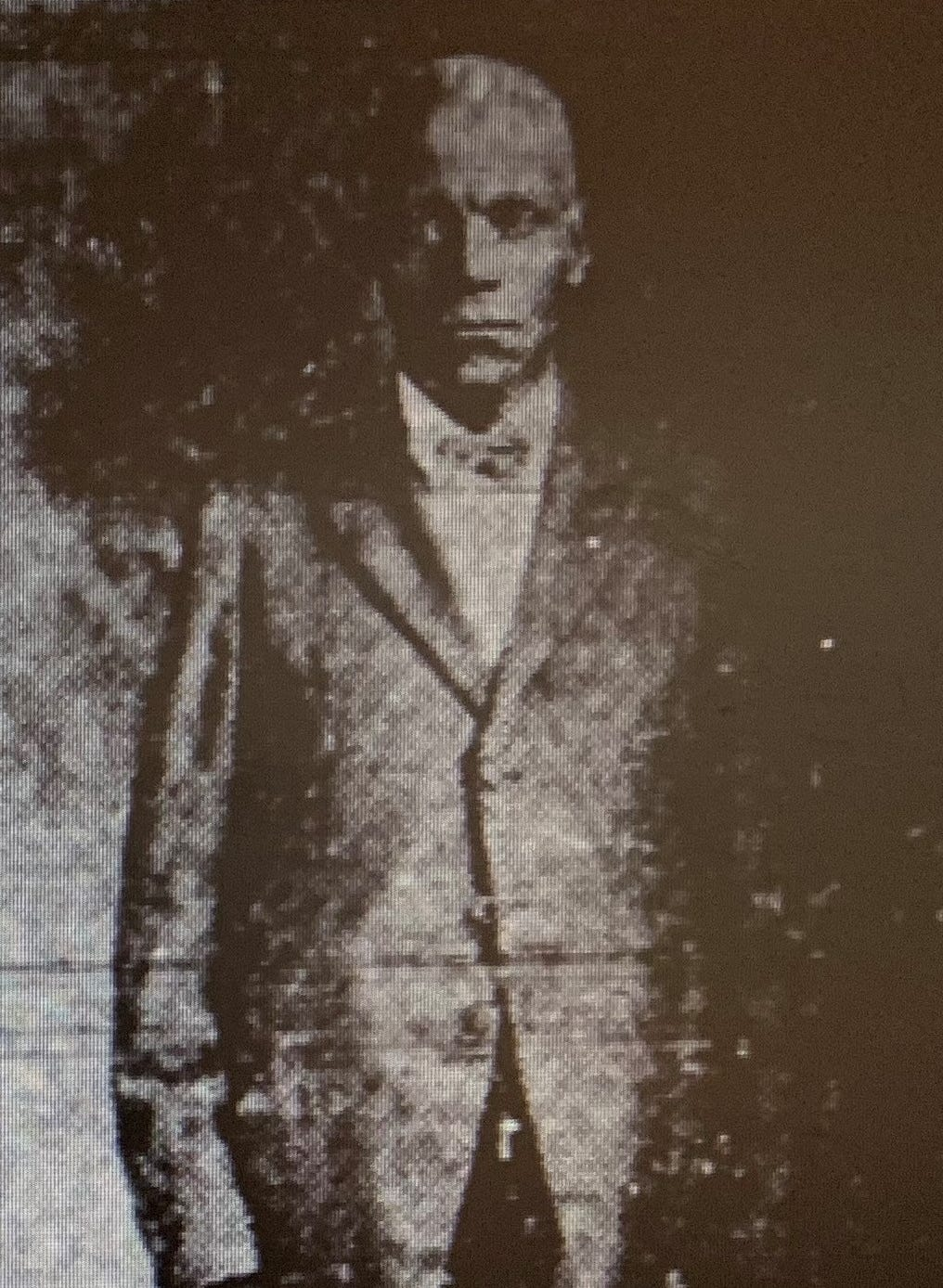 Elijah Lavender as depicted in an advertisement in the February 29, 1932 edition of the Selma Times. Lavender was a former federal official who, according to the Selma Times, owned 22 homes in Selma by 1932. Lavender provided Wold with information on Jeremiah Haralson's death that he got secondhand.