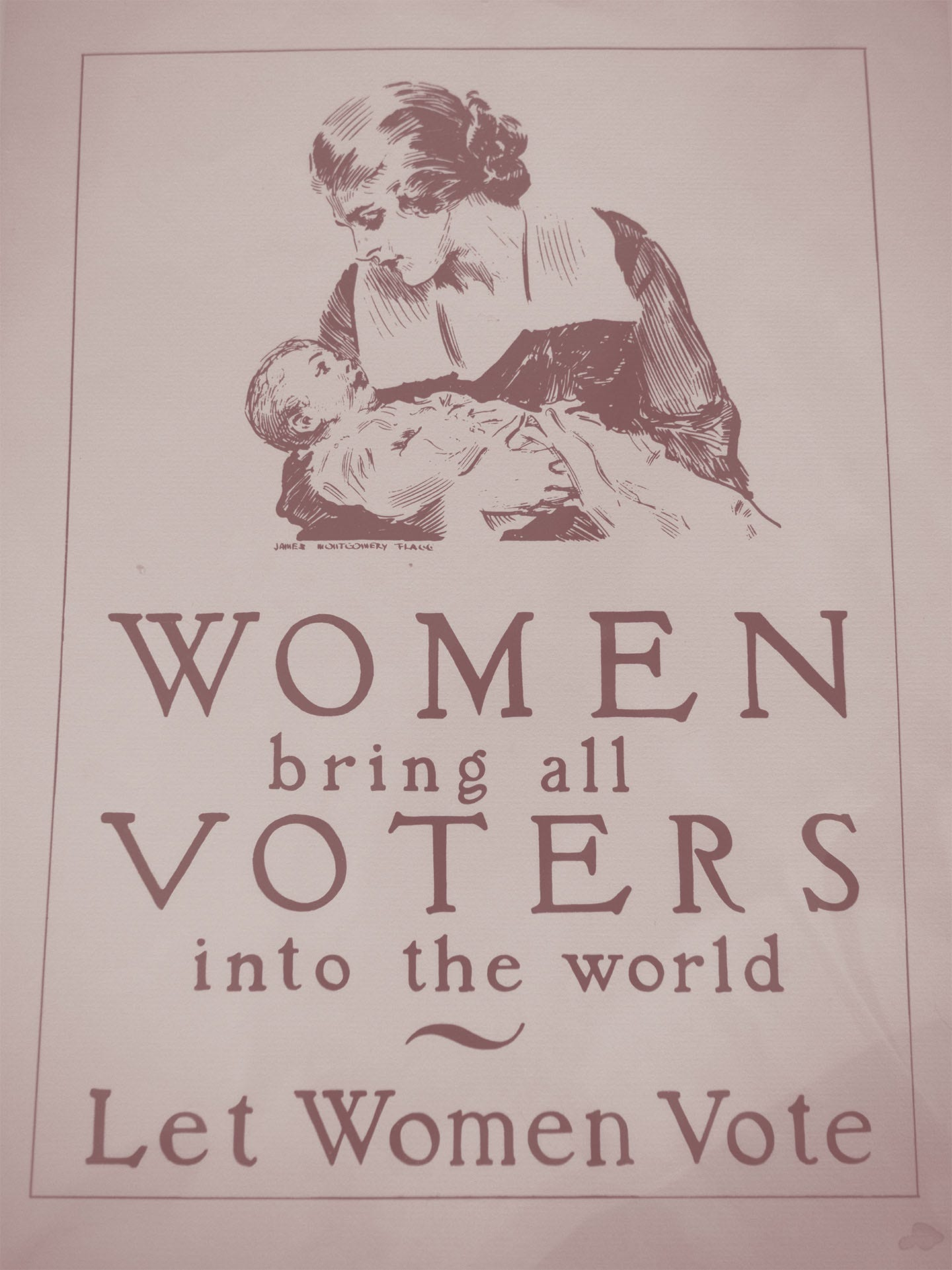 A poster from a collection of suffrage memorabilia.