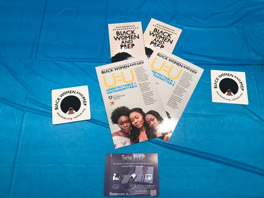 Informational material at Black Women and PrEP Campaign organized by the Louisiana Health Hub.