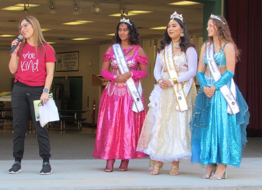 The National Date Festival Queen and her Court at Cathedral City Elementary School