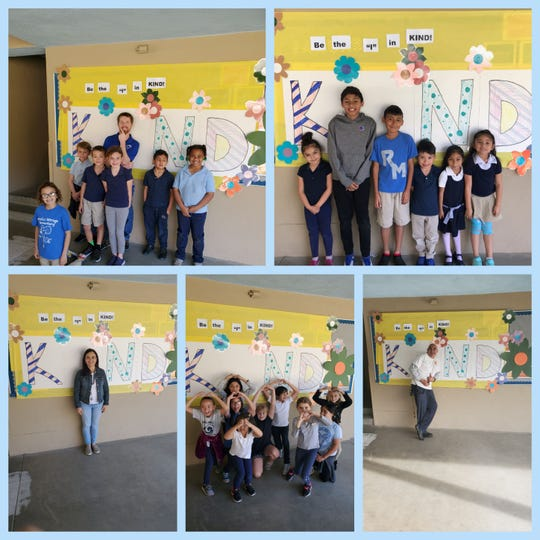 Rancho Mirage Elementary students and staff participate in kindness activities.