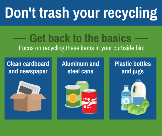 Santa Rosa County has been giving out this magnet to residents at its workshops to help them better understand the do's and don'ts of recycling.
