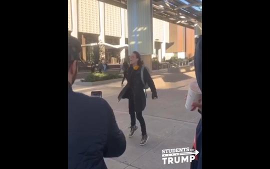 "A viral video show a man yelling ""slash Republican throats"" on ASU's Tempe campus."