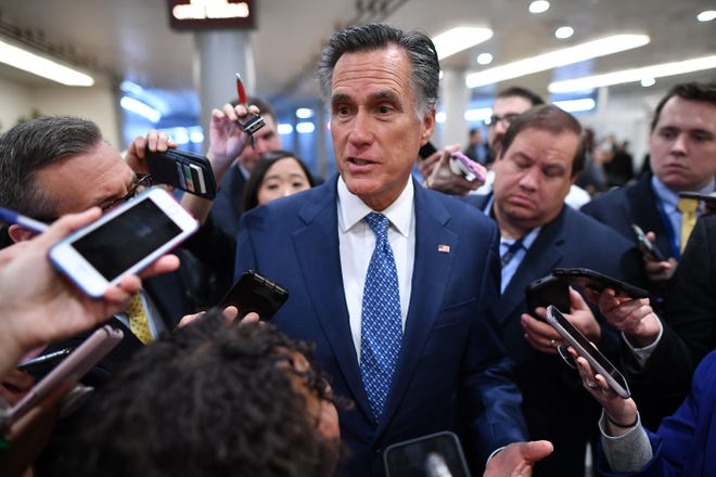 Romney priva a Trump de afirmar en su campaña que los republicanos lo absolvieron por unanimidad.