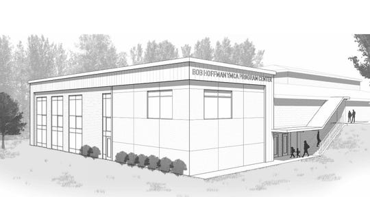An illustration of the improvements to the Bob Hoffman YMCA in Dover Township.