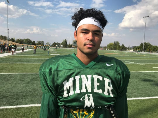 Curtis Luckadoo played tight end for Manogue.