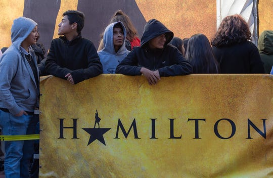 Monterey County students await to be let into the Orpheum Theater located in San Francisco on Feb. 05, 2020. For many of these students it is their first time ever experiencing a theatrical performance of this level.