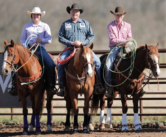 The rodeo business is a family affair for Mason's Tyler Magnus and his oldest daughter, Ruby, and son, Truman. Tyler and Truman competed in the slack competition in team roping earlier this week at the San Angelo Stock Show & Rodeo.