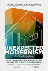 """Unexpected Modernism: The Architecture of the Wiener Brothers"" documentary will debut at a world premiere screening on April 2 at The Strand Theatre in Shreveport."