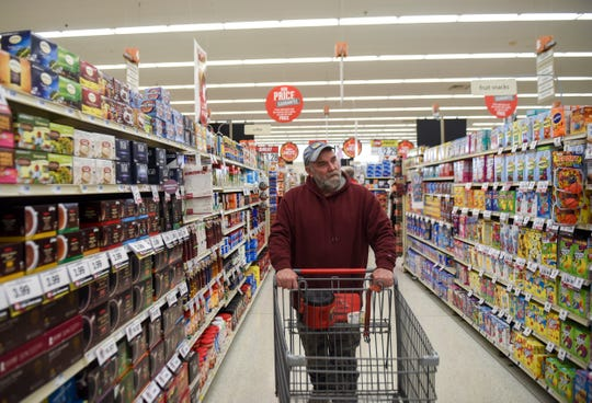 Dave Watson shops for groceries on Thursday, Feb. 6, 2020 at the Hy-Vee on Minnesota Avenue. Hy-Vee recently announced a change in their stores hours and will no longer be open 24 hours.