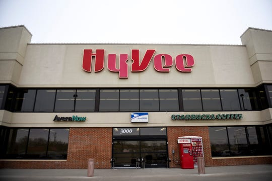 Hy-Vee stores announce a change in hours on Thursday, Feb. 6, 2020 at the Hy-Vee on Minnesota Avenue. The store will no longer be open 24-hours.