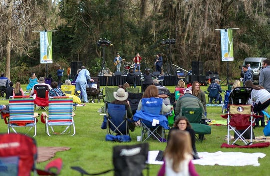 The 2019 annual Field Day Music Festival with local band, Slow Low Crow on stage. This year's event will Feb. 23 at Maclay Gardens.