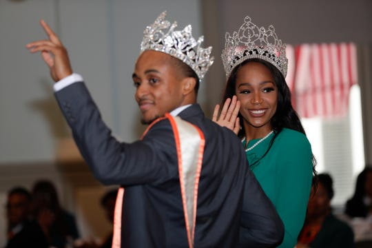 Mr. and Miss FAMU appear at the school's FAMU Day luncheon in the Senate chamber of the Old Capitol Thursday, Feb. 6, 2020.