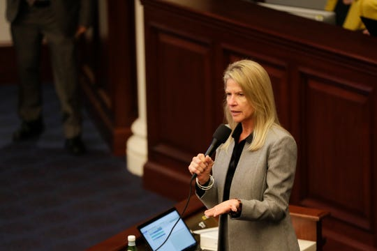 Sen Debbie Mayfield's proposal would increase penalties for harassment of hunters, anglers and trappers, increase the number of free fishing days and ban the possession of green iguannas and tegu lizards.