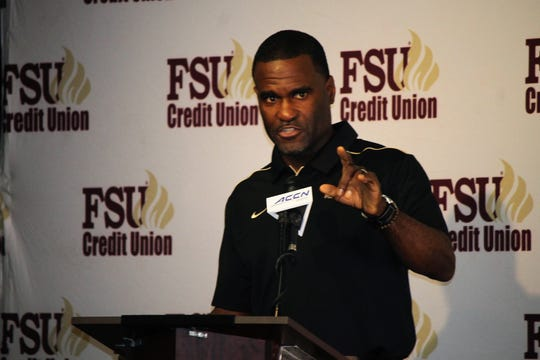 FSU defensive backs coach Marcus Woodson at the FSU National Signing Day Party on Feb. 5, 2020.