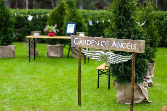 Garden of Angels memorial garden at the 2019 Field Day event.