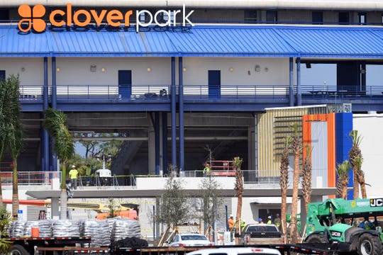 Renovations continue at Clover Park, formerly First Data Field, on Thursday, Feb. 6, 2020, in Port St. Lucie. The renovations to the spring training home of the New York Mets are running behind and won't be completed by Monday, when pitchers and catchers are to report. County officials are hoping the work on the stadium will be done by Feb. 24, two day after the Mets' spring training home opener.