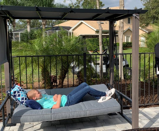 Brieanna Elmer, 13, of Port St. Lucie, was surprised with a backyard oasis from the Make-A-Wish foundation following her almost 3-year battle against Rhabdomyosarcoma, an aggressive and highly malignant form of cancer.