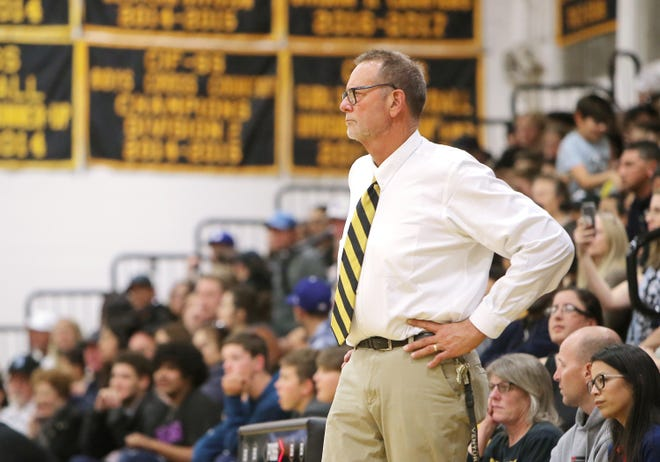 Dan Larson has coached the Ventura High boys basketball team for 32 seasons.