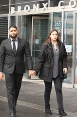 Juan and Marissa Rodriguez leave the Bronx County Courthouse on Thursday, Feb. 6, 2020.  Juan Rodriguez faces charges in the hot-car deaths of his 1-year-old twin daughter and son. The case was adjourned.