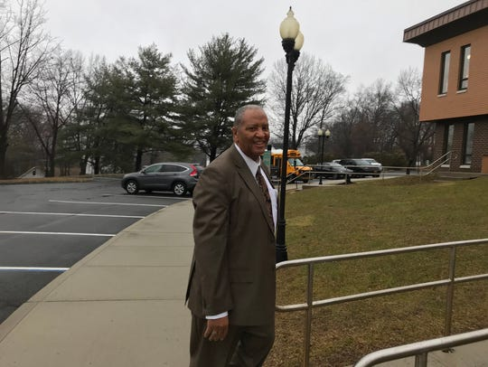 Bernard Charles arrives at Haverstraw town court on Thursday, Feb. 6, 2019.