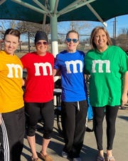 Senior Junior Forum members recently participated in the Polar Plunge at Boomtown Bay in Burkburnett. From left to right, Tiffany Steele, Shelly Hutchins, Amber Meadows and Liz Wathen.