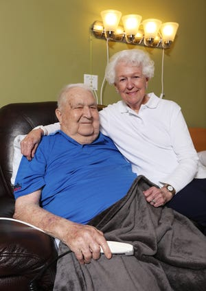 Edward and Charlene Ross of Dresden are celebrating their 75th  anniversary this month.