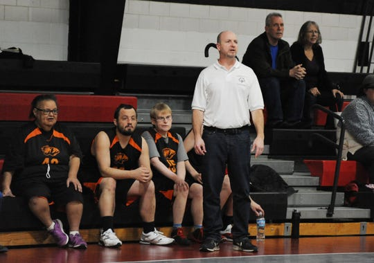 Starlight Tigers coach Andy Zigo looks on as his team faces Perry County on a recent Wednesday at Foxfire High School. The Tigers are back in the state final four after winning the state title in 2017.