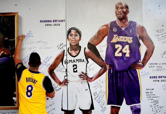 Gianna Bryant's No. 2 basketball jersey retired by Harbor Day School in California