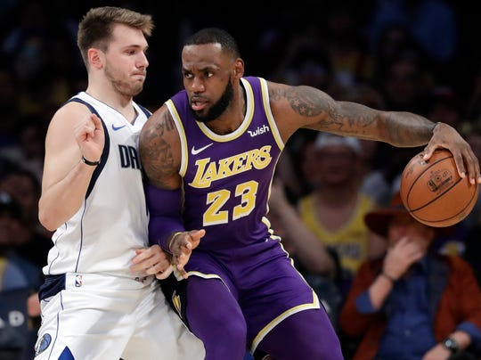 The Mavs' Luka Doncic and Lakers' LeBron James will face off on Friday.