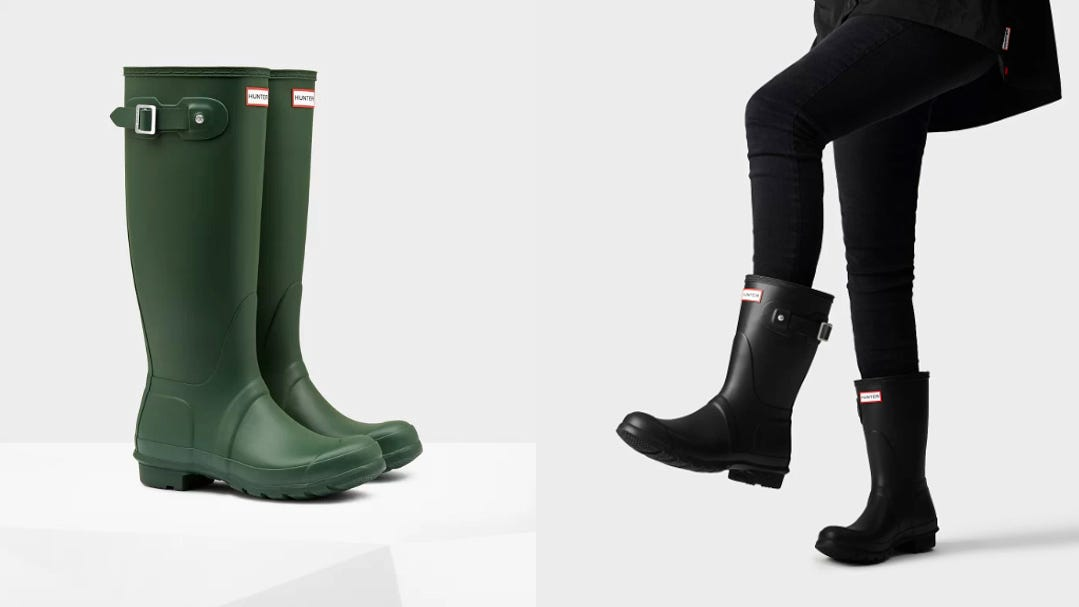 Hunter rain boots sale: Get this iconic