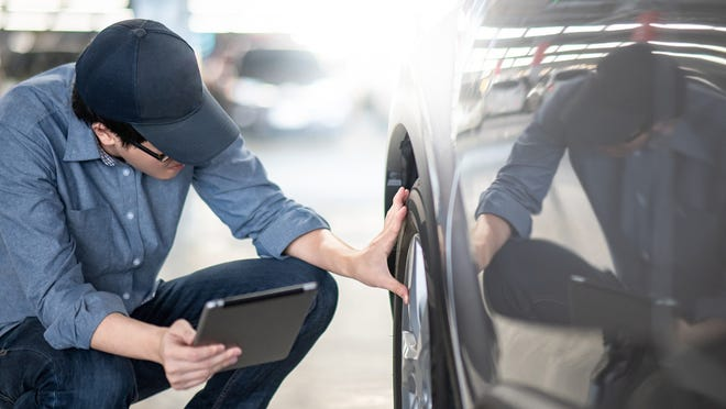 Pay close attention when doing the walk-around with the rental agent to look for previous damage and point out any imperfections. If an issue isn't documented, you could be blamed for it when you return the car.