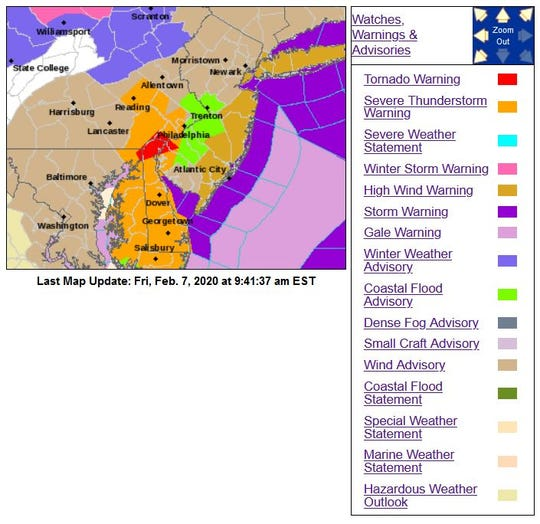 Friday will bring plenty of rough weather to New Jersey.