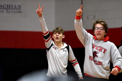 Avery County took home the school's first team title in any sport with a 35-30 win over Uwharrie Charter in the NCHSAA 1A dual team championship on Feb. 8.