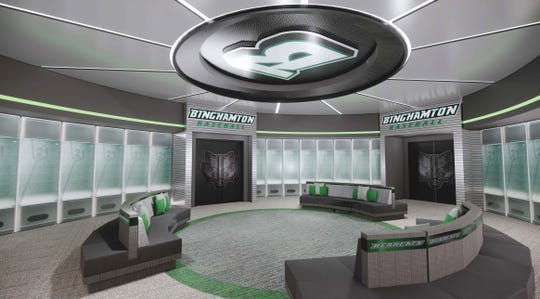 Binghamton University unveiled designs for a $60 million renovation of its baseball complex.