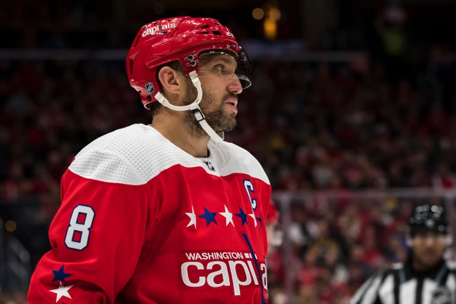 Alex Ovechkin is two goals shy of 700 heading into Saturday's game against the Flyers.
