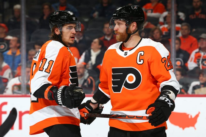 Travis Konecny, Claude Giroux and the Flyers had their worst loss of the season Thursday, a 5-0 drubbing at the hands of the New Jersey Devils.