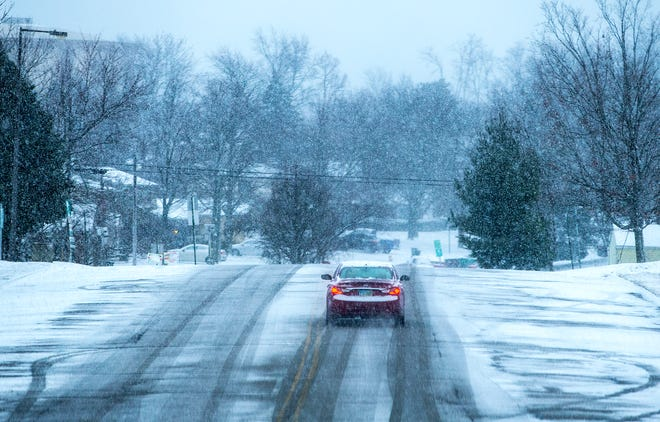 The National Weather Service said light snow accumulations are expected Wednesday afternoon into Wednesday night.