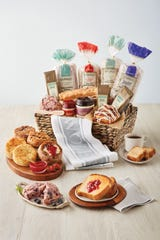 Have a romantic brunch for two with Wolferman's Bakery Grand Bakery Gift Basket.