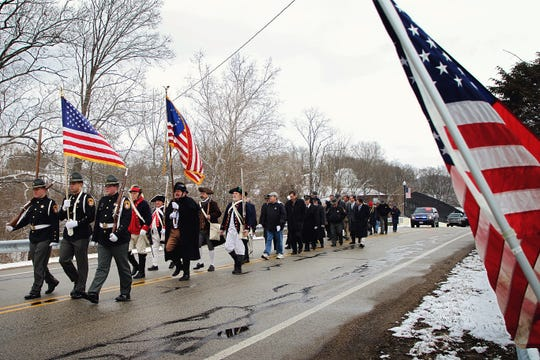 A birthday tribute was held in honor of President William Henry Harrison at his memorial site in North Bend, on Friday, February 7.