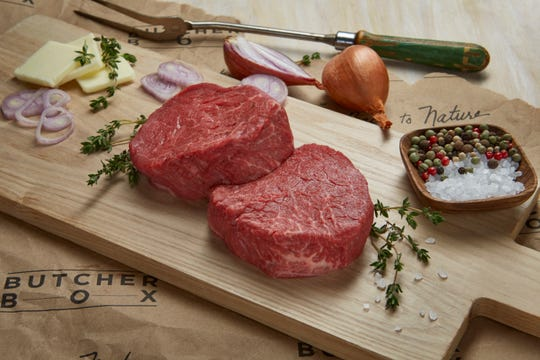 You can find high quality grass fed meats like filet mignon in ButcherBox.