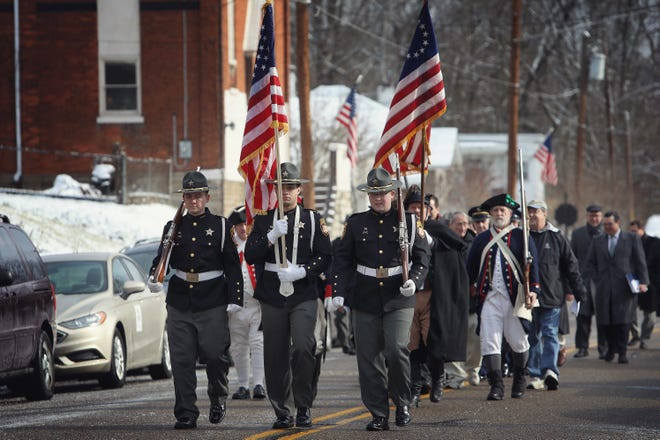A birthday tribute was held in honor of President William Henry Harrison at his memorial site in North Bend, Ohio, on Friday, February 7, 2020.