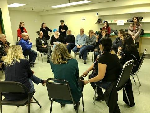 ASL Caucus participants discuss the candidates